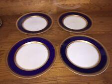 "4 Royal Jackson IMPERIAL COBALT 10 1/4"" Dinner Plates ~ Excellent"