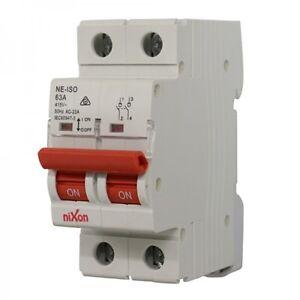 63AMP - 2 Pole Isolator Switchboard - Din Rail mount - Main Switch