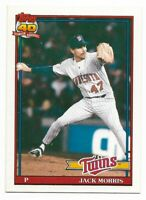 1991 Topps Minnesota Twins Team Set with Traded