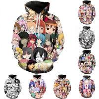 Anime Ahegao Funny 3D Print Men Women Hoodies Coat Casual Pullover Sweatshirt