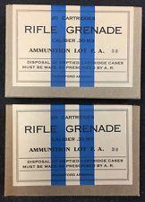 CALIBER .30 M3 RIFLE GRENADE WW2 NEW REPLICA 20 ROUND AMMO BOX (2 PCS) - FA
