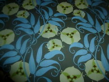 Cotton Fabric Amy Butler Rowan fabrics Yellow Blue Stylized Floral on Gray 1yd 2