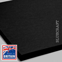 12 inch Square Vanguard Thick Black Card 320gsm - 305 x 305mm - All Quantities