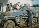 WWII Photo German soldiers launder winter camouflage World War/58f