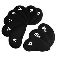 1pc/10pcs Golf Club Head Covers Iron Putter Protective Waterproof Headcover Set