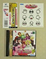 Sakura taisen wars hanagumi columns Sega Saturn SS game obi sticker tested Japan