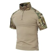 TACVASEN Mens Cotton Moisture Wicking T-shirt Tactical Army Military T Shirts CP 3xl ( UK Size Xl)