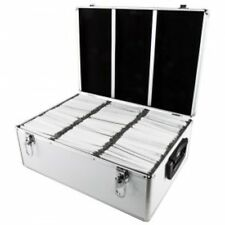 Valise DJ Convient pour 510 CD/DVD/Blu-ray, ABS, Argent