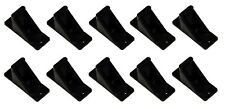 Black Plastic Mini Roof Snow Ice Guard-10 PK | Prevent Sliding Snow Stop Buildup