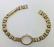 Ladies 9ct gold Accurist Rotary Sovereign bracelet watch spare links Clasp case