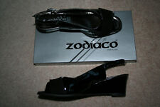 Zodiaco patent leather black ladies shoes