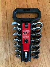 Craftsman 7 Piece Sae Stubby Ratcheting Wrench Cmmt12076