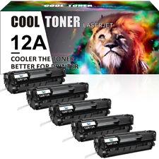 5P for HP Q2612A 12A LaserJet 1010 1012 1015 1018 1020 Black Toner Ink Cartridge