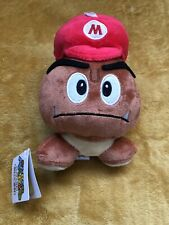 "Super Mario Plush Teddy - Goomba With Mario Hat  Soft Toy - Size 6"" / 15cm NEW"