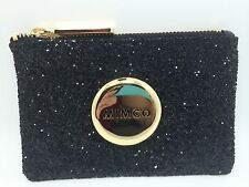 BNWT MIMCO SPARKS POUCH WALLET BLACK GOLD LEATHER