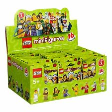 New Factory Sealed LEGO 8803 Box/Case of 60 Minifigures Series 3