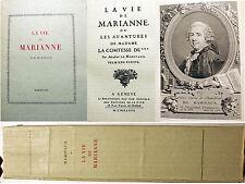 MARIVAUX/LA VIE DE MARIANNE/BIB D UNE AME SENSIBLE/GENEVE/1948/LIBERTINAGE/EO