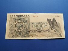 LARGE! RUSSIA 1000 ROUBLE 1919 RUBLE NORTHWEST GENERAL YUDENICH BANKNOTE *!!!*