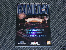 2002 SEAHAWKS FIRST 1st GAME AT SEAHAWK STADIUM PROGRAM  NR MINT