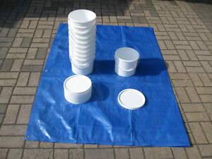 New 5 Litre Food Grade Fishing Bait Storage Bucket Set