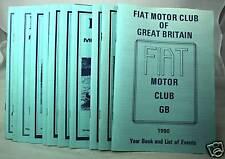 Parliamo - Fiat Motor Club (GB) Magazine -1990 Part Set