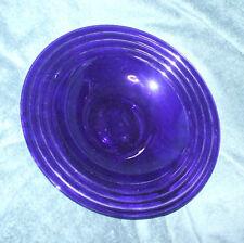 LARGE VINTAGE BOWL BLUE VINTAGE GLASS FRUIT PLACTE DECORATIVE PLATE