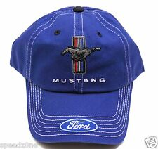 FORD  MUSTANG DENIM COLORED MENS ADULT HAT WITH TRI BAR LOGO