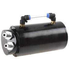 750ML Round T-6061 Aluminum Metal Black Oil Catch Reservoir Tank Can Universal