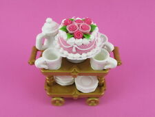 PLAYMOBIL~Victorian~Princess~Tea Cart~ 3 Plates~Saucers~Cup~Teapot~Cake~Pink~PC