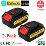 DCB205 For DeWalt 20V 20 Volt Max XR Lithium Ion Battery 5.0AH DCB204-2 DCB200-2