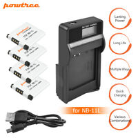 NB-11L NB11LH Battery+Charger for Canon PowerShot ELPH 110 HS A2500 Powtree EG