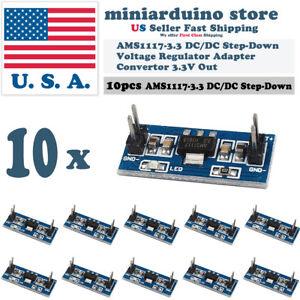 10pcs AMS1117-3.3 3.3V Step-Down Linear Voltage Regulator Module 6-12V in 3.3V