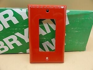 BRYANT 1 GANG SWITCH COVER RECEPTACLE WALL PLATE RED 88061-RED (QTY 1)