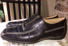 Women's Gabor Sport Brown Leather Upper Zip Loafers Sz 7 EU 38
