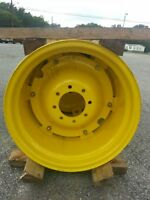 TWO New 15x24 John Deere Part #RE220950 Tractor Wheels with 8 on 8 Centers