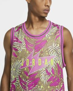 Nike Air Jordan Wings South Beach Palm Print Men Jersey Pink CJ4314 225 Medium