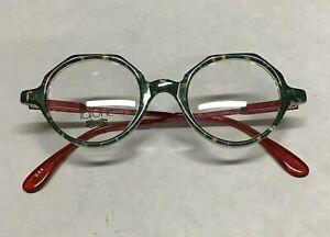 Lafont Kids Tom Pouce 42 Green & Red Eyeglass Vintage Frames 45-15-118 Clear Len