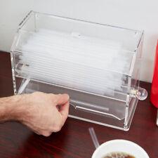 Straw Dispenser, Acrylic, Clear