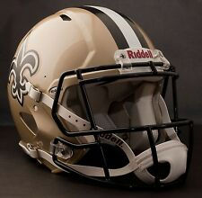 **GAMEDAY-AUTHENTICATED** New Orleans Saints NFL Riddell Speed Football Helmet