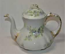 "Antique William GUERIN LIMOGES France FORGET ME NOT 8 1/2""h Coffee Pot"