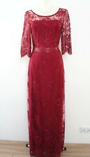 PHASE EIGHT BNWOT Red Lace Beaded Wedding Evening Maxi Dress Size 14