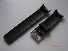 Black Replacement Resin Strap Band Fit/Nautica Rib Watch N15649G 28.8mm Size