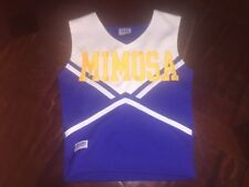 """Mimosa Royal Blue, Yellow, Wht Cheerleading Uniform Top - Chasse' Sport 25"""" Bust"""