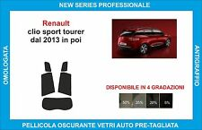 pellicole oscuranti vetri  renault clio sport tour dal 2013  kit posteriore