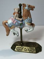 Willitts Carousel Limited Edition 5th Anniversary Horse w/ Teddy Bear Rider