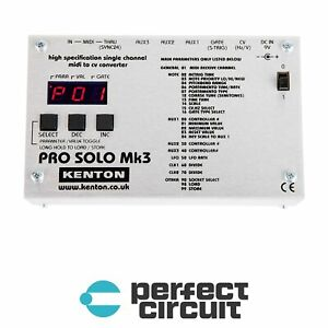 Kenton Pro Solo Mk3 MIDI to CV Converter MIDI INTERFACE NEW - PERFECT CIRCUIT