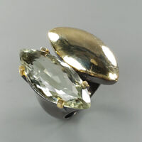 Natural Green Amethyst 925 Sterling Silver Ring Size 7/RS18-0008