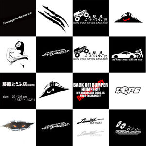 JDM Funny Car Sticker Lowered Truck Boat Window Bumper Vinyl Decal Waterproof YZ