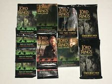 LOTR TCG CCG TRADING CARD PACKS ENTS FANGORN RETURN OF THE KING TOWER DRAFT LOT