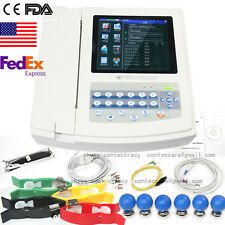 USA 12-Channel 12 Lead ECG/EKG Electrocardiograph Realtime  Analysis software